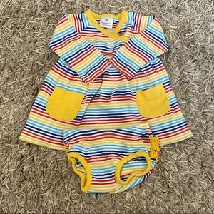 Hanna Andersson 2 piece baby dress+bloomers 3-6M